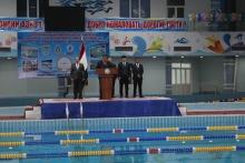 Открытие международного турнира по плаванию в городе Худжанде